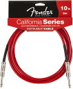 Fender / California Instrument Cables 10ft CAR(Candy Apple Red) 楽器用ケーブル フェンダー