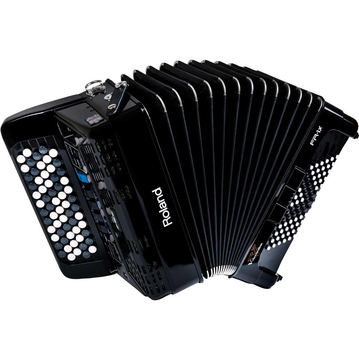 Roland ローランド / V-Accordion FR-1XB BK ブラック Vアコーディオン ボタン鍵盤タイプ【お取り寄せ商品】【YRK】