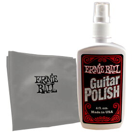 ERNiE BALL / #4222 Guitar Polish with Microfiber Cloth ポリッシュ&クロスセット 【★お取り寄せ】