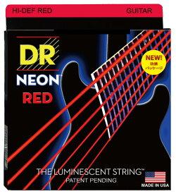 DR / NEON Hi-Def RED DR-NRE-9 エレキギター用カラーコーティング弦 09-42 ディーアール