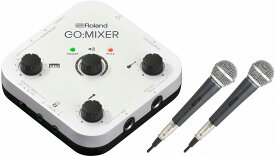 Roland ローランド / GO:MIXER 【マイク2本セット!】Audio Mixer for Smartphones (GOMIXER) スマートフォン専用オーディオ・ミキサー【YRK】
