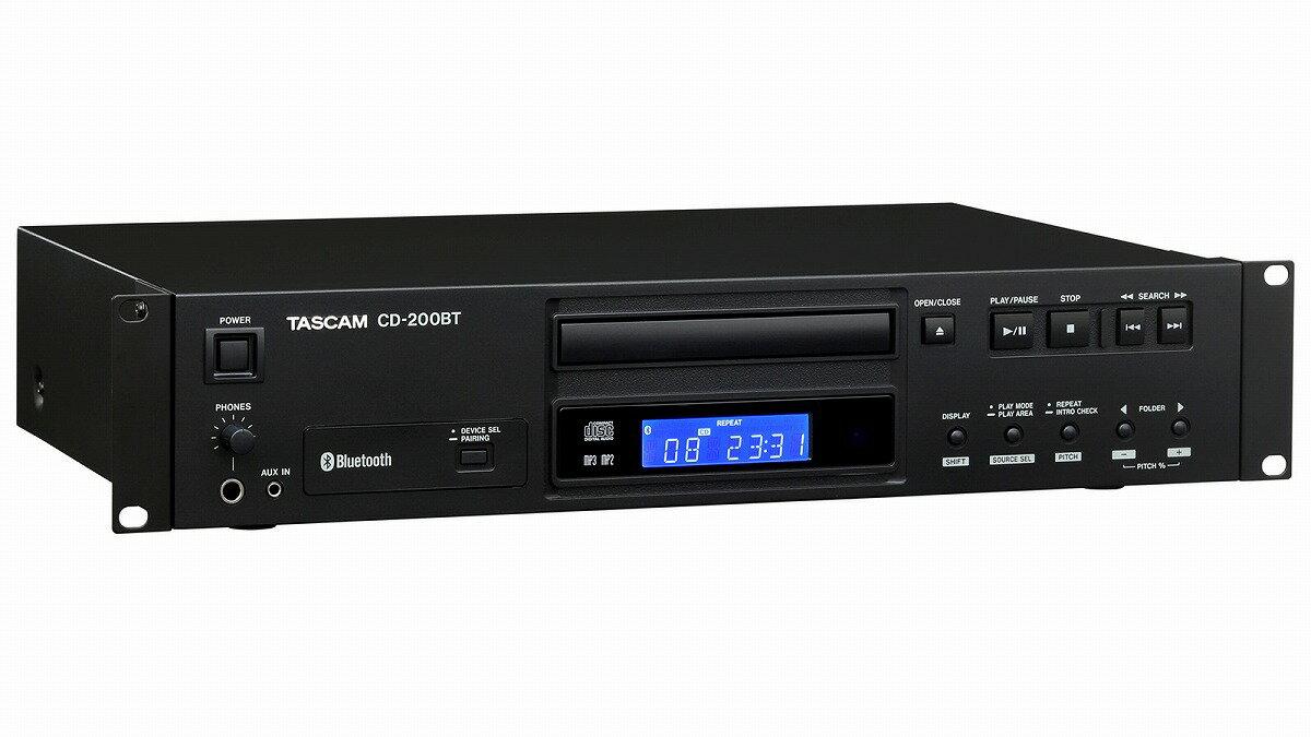 TASCAM / CD-200BT Bluetooth対応CDプレーヤー【お取り寄せ商品】《予約注文/4月下旬入荷予定》