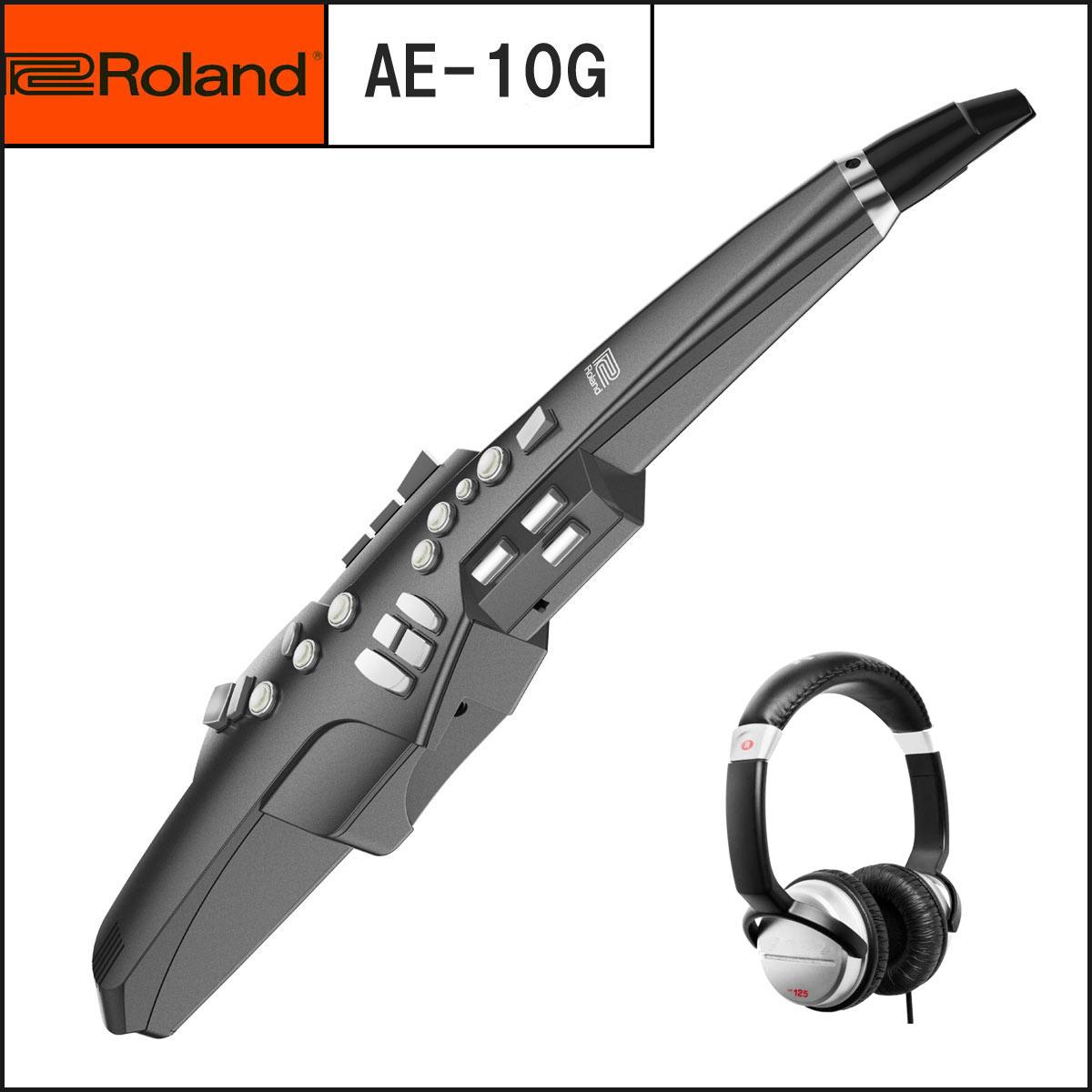 【在庫あり】Roland ローランド / Aerophone AE-10G グラファイトブラック エアロフォン 新カラー《ヘッドフォンプレゼント:551810390》