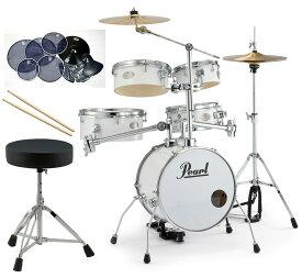 Pearl 小型 ドラムセット RT-645N/C-33 リズムトラベラー サイレントパック ドラムイスとスティック付き一括セット