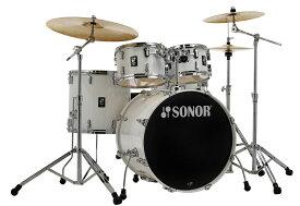 SONOR / SN-AQ1SG PWピアノホワイト ソナー ドラムセット AQ1 Stage Set 22BD スタンダードサイズ /Sジルジャンシンバルセット【お取り寄せ商品】