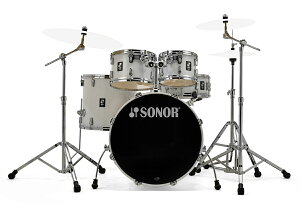 SONOR / SN-AQ1SG #PWピアノホワイト ソナー ドラムセット AQ1 Stage Set 22BD スタンダードサイズ /シンバル別【お取り寄せ商品】