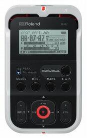 Roland ローランド / R-07 WH ホワイトカラー オーディオ・レコーダー【YRK】【お取り寄せ商品】