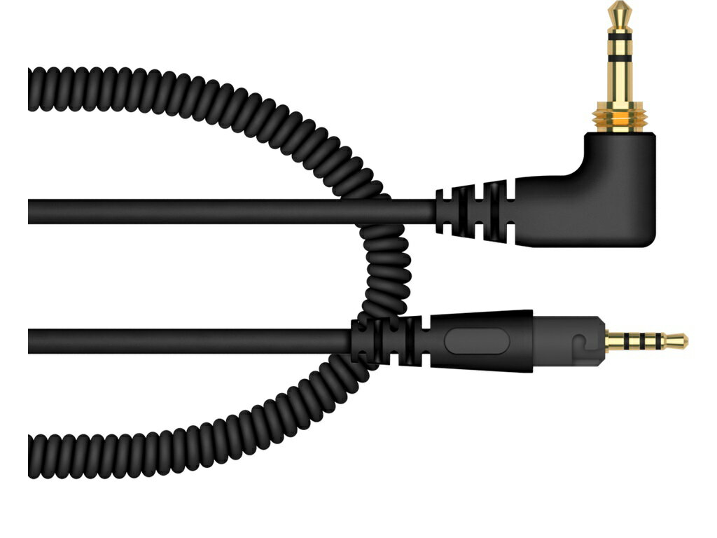 PIONEER パイオニア / 1.2m coiled cable for the HDJ-S7-K (HC-CA0701-K)【お取り寄せ商品】【PNG】