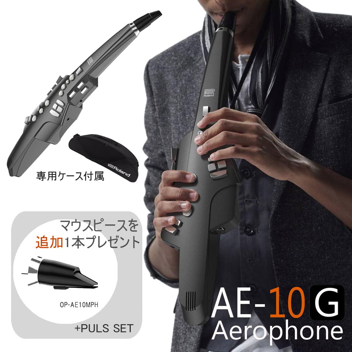 【在庫あり】Roland ローランド / Aerophone AE-10G グラファイトブラック エアロフォン 《数量限定交換用マウスピースプレゼント》【送料無料】