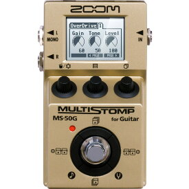 ZOOM / MS-50G-I MultiStomp Guitar Pedal Gold Limited 【限定生産モデル】【在庫有り】