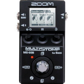 ZOOM / MS-60B-I MultiStomp Bass Pedal Black Limited 【限定生産モデル】【在庫有り】