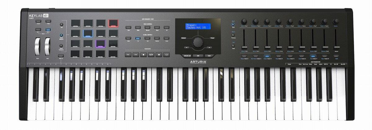 ARTURIA アートリア / KeyLab61 MKII BK (ブラック) 61鍵盤MIDIコントローラー・キーボード