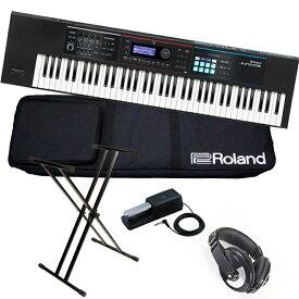 Roland ローランド / JUNO-DS76【スタートセット!】76鍵盤シンセサイザー【YRK】《BLACKシリーズケーブルプレゼント:811171200×2》