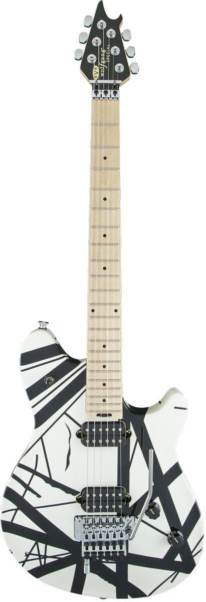 【タイムセール:31日12時まで】EVH / Wolfgang Special Maple Fingerboard Black and White Stripes イーブイエイチ《豪華特典つき!/+80-set9316evh》《EVH GIGBAG プレゼント!+/811171000》