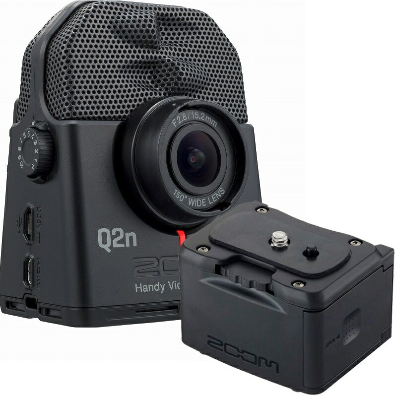 ZOOM ズーム / Q2n-4K+ BCQ-2N 【バッテリーケースセット!】4Kハンディビデオレコーダー《予約注文/1月下旬入荷予定》