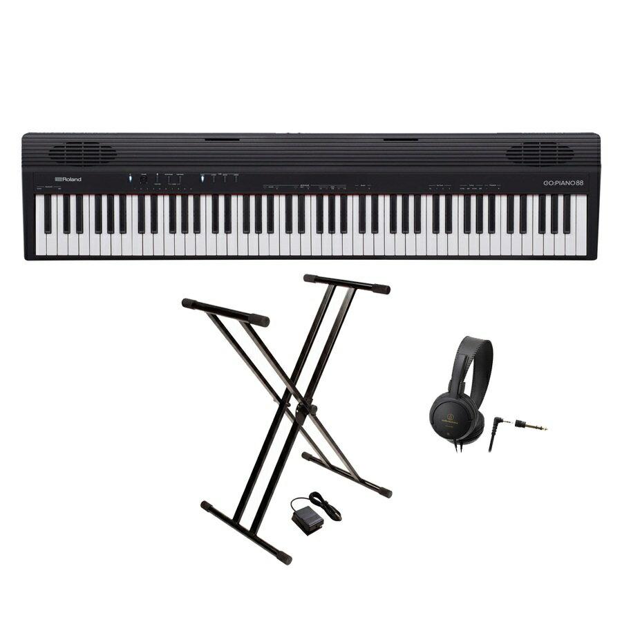 Roland ローランド / GO-88P(GO:PIANO88)【スタンド&ヘッドホンセット!】88鍵盤 エントリー・キーボード【YRK】