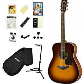 YAMAHA / FG820 BS(ブラウンサンバースト) 【アコースティックギター14点入門セット!】 ヤマハ フォークギター アコギ FG-820 入門 初心者【YRK】《メンテナンスツールプレゼント/+2308111820004》