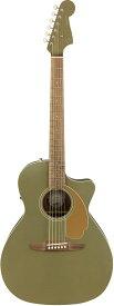 【タイムセール:2日12時まで】【在庫有り】 Fender Acoustic / Newporter Player Walnut Fingerboard Olive Satin フェンダー アコースティックギター エレアコ アコギ 【YRK】【新品特価】