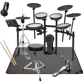 【在庫あります】Roland 電子ドラム TD-17KVX-S PEARLシングルキックペダル・スターターパック SELVAマットセット【YRK】