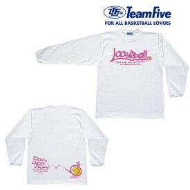 【即日発送/30%OFF】TeamFive チームファイブ ロンシャツ「LOOSE BALL」AL-5508※レターパック発送可能
