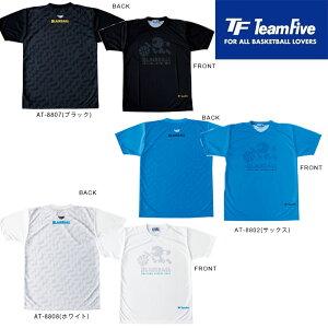 TeamFive チームファイブ Tシャツ「ブラックボール!」サックス ブラック ホワイト (AT-8802 AT-8807 AT-8808) ※2枚までレターパック発送可能