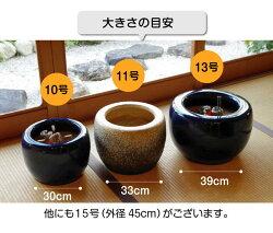 火鉢生子(なまこ)10号(火ばし穴有)5点セット