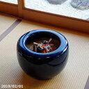 【予約販売】 火鉢 信楽焼 生子11号(33cm)(少し難あり)+灰炭セット(木灰6L(約3kg)+底砂ひゅうが土4L+特級…