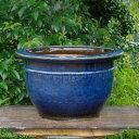 信楽焼 植木鉢 昭和の時代作 約50年前の本格的な 生子輪型 20号(外径61.5cm 高さ37cm)(少々難有り) 【送料無料】