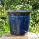 信楽焼 植木鉢 昭和の時代作 約50年前の本格的な 生子懸崖鉢 16号(外径48.5cm×42.5cm) 【送料無料】【産地直送】【園芸 観葉植物…