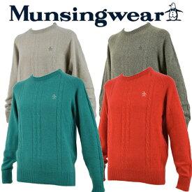 【55%OFF!】 【送料無料!】 マンシングウェア 【Munsingwear】 ゴルフ GOLF カシミヤセーター SG4312 (メンズ/ゴルフウェア/ニットセーター/ウールセーター/丸首/ウォームビズ/暖かい)