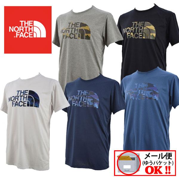 ノースフェイス 【THE NORTH FACE】 メンズ Tシャツ フェイドカモフラージュロゴティー / Fade Camouflage Logo Tee NT31897 2018モデル (メンズ/半袖シャツ/UVケア/静電ケア/ランニング/カジュアル)【大人気】
