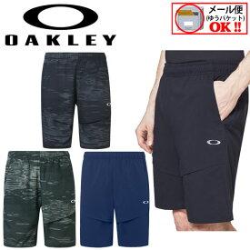 【1点までメール便可】【2020春夏】オークリー【OAKLEY】メンズ Enhance Mobility Shorts ハーフパンツ ショートパンツ FOA400171 (男性用/トレーニングパンツ/トレーニングウェア/半ズボン/短パン/吸汗速乾/ストレッチ/UVカット)【オススメ】