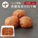 香壌栽培の白干梅 ペット容器 1kg