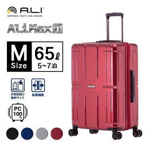 スーツケース A.L.I AliMAX2 4-5泊 拡張 65L ALI-011-24w