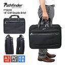 """ビジネスバッグ 2室 パスファインダー pathfinder レボリューションXT RevolutionXT 18""""EXP Double Brief PF6805B"""