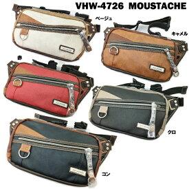 ボディバッグ MOUSTACHE VHW-4726 ムスタッシュ メンズ ウエストポーチ カジュアル タウン ストリート 鞄 バッグ 男性 紳士