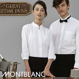 飲食店ユニフォーム シャツ 七分袖 [女性用] PS2141 MONTBLANC モンブランホテル フロント フォーマル レストラン カフェ フードユニフォーム