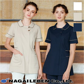 ナースウェア チュニック [女性用] LH-6242Beads Berry ビーズベリー Seed℃ シードシー Naway ナウェイ NAGAILEBEN ナガイレーベン レディース 上衣 ユニフォーム