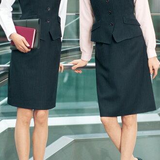 庫存限度裙子黑色金色金屬線條紋高級感工作服辦公人員受理櫃台女士門衛制服制服