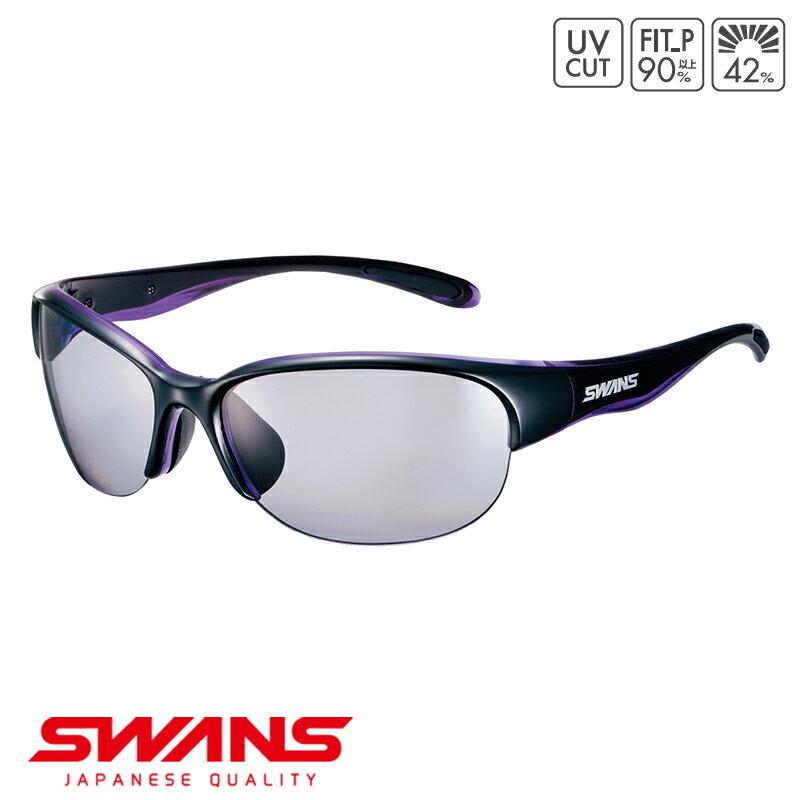 スポーツサングラス LN-0053 BK/PR SWANS スワンズ LUNA ルナ ハーフリム ゴルフ 釣り スポーツ アウトドア
