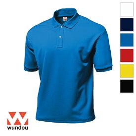 【返品・交換不可】タフドライポロシャツ P115 【S〜XXL】 [男女兼用] wundou ウンドウ スポーツウェア トレーニングウェア