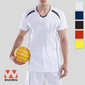 【返品・交換不可】バレーボールシャツ P1610 【S〜XXL】 [男女兼用] wundou ウンドウ スポーツウェア トレーニングウェア