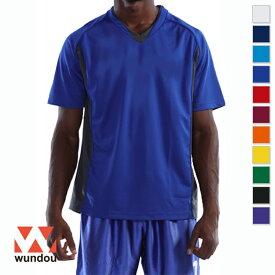 【返品・交換不可】ベーシックサッカーシャツ P1910 【110cm〜150cm】 [男女兼用キッズ] wundou ウンドウ スポーツウェア トレーニングウェア