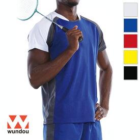 【返品・交換不可】バドミントンシャツ P3610 【110cm〜150cm】 [男女兼用キッズ] wundou ウンドウ スポーツウェア トレーニングウェア