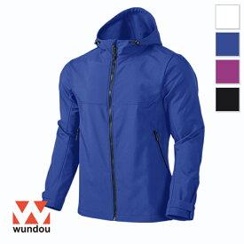 【返品・交換不可】アウトドアパーカージャケット P4210 【XS〜XXL】 [男女兼用] wundou ウンドウ スポーツウェア トレーニングウェア