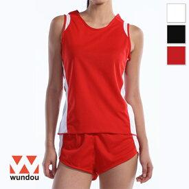 【返品・交換不可】ウィメンズランニングシャツ P5520 【S〜XL】 [女性用] wundou ウンドウ スポーツウェア トレーニングウェア