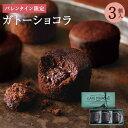 【バレンタイン 2020】プレミアムガトーショコラ3個入期間限定 プチギフト 義理チョコ チョコレート チョコ 500円…
