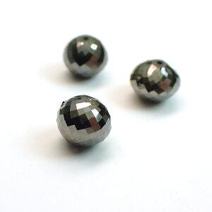 ブラックダイヤモンドAAAボタンカット ビーズ約5×6mm 1粒売り