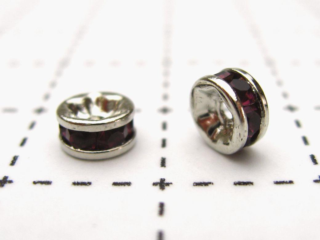 〔10%クーポン配布中/P5倍〕ロンデル ロジウム5mm(アメジスト) 1ヶ売り 石の蔵