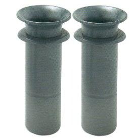 プラスチック樹脂製 お墓用花立 1対2本セット 筒径:59mm 中入れ式ツバ付